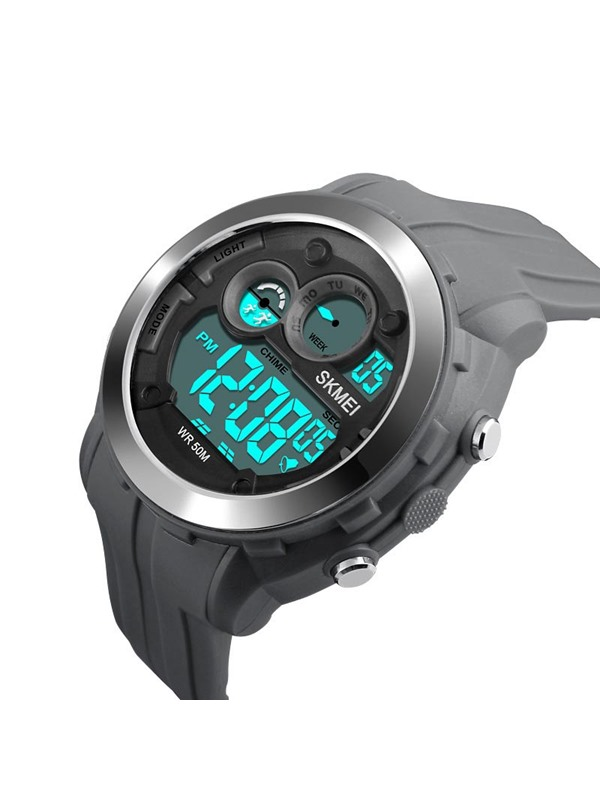 Digital Display Rubber Band Luminous Auto Date Men's Watch