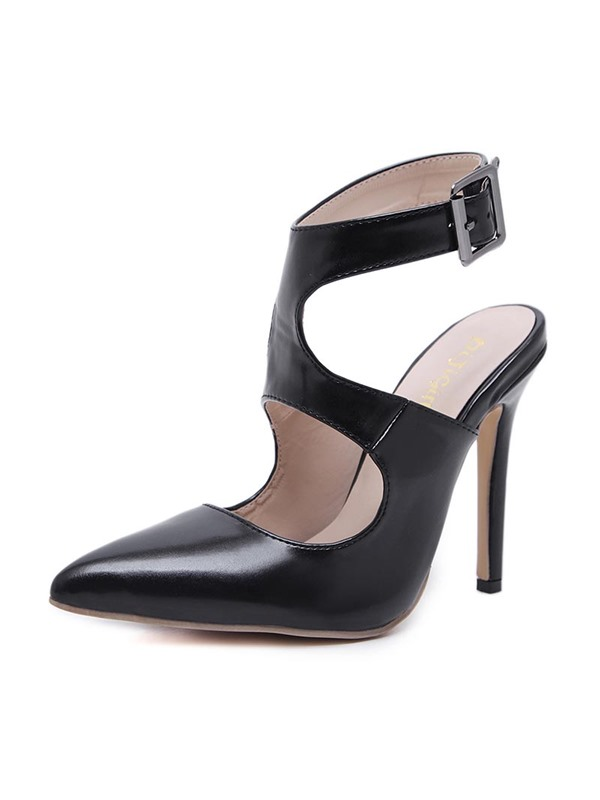 PU Strappy Pointed Toe Women's Sandals