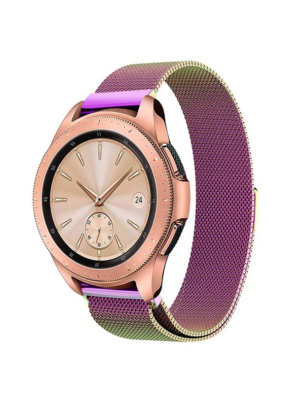 Samsung Galaxy Watch Band 42mm/46mm Milanese Stainless Steel Mesh Loop with Adjustable Magnetic Closure Replacement Band
