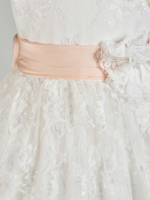 Tiered Lace Bowknot Baby Girl's Gown Gown