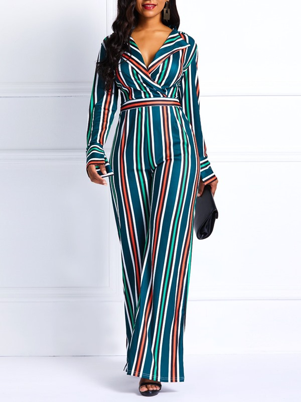 Thick Sexy Print Full Length Wide Legs Women's Jumpsuit