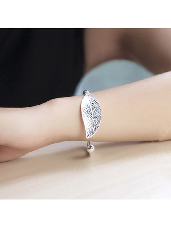 Leaf Shape E-Plating Korean Style Bracelets