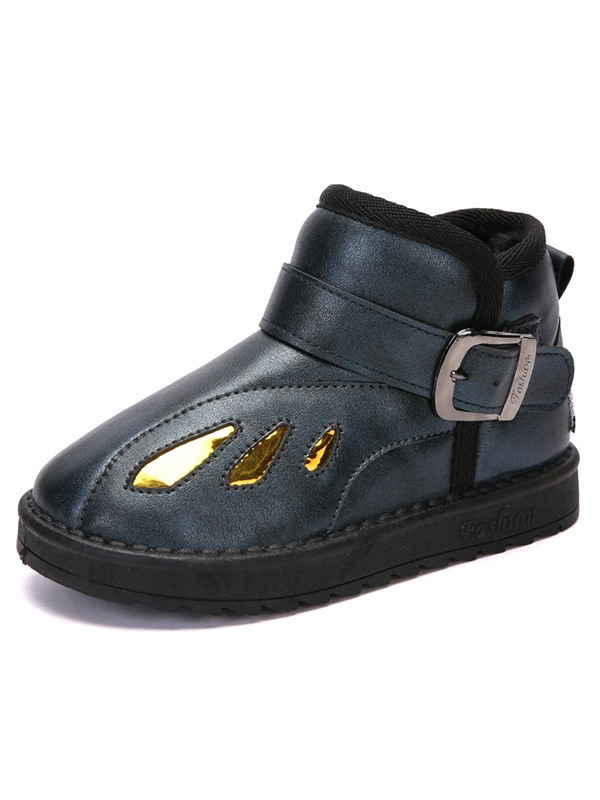 PU Round Toe Winter Boots