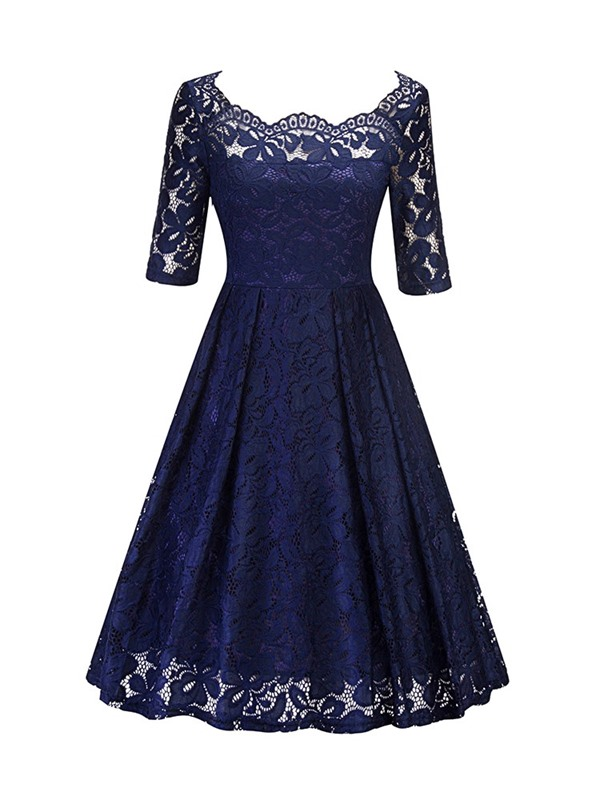 Embroidery Expansion Pullover Women's Lace Dress