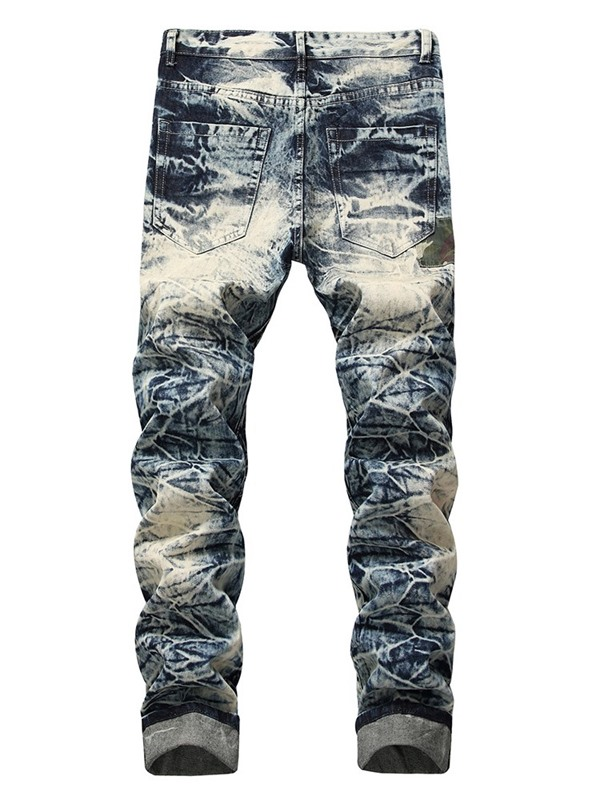 Hole Worn Men's Ripped Jeans