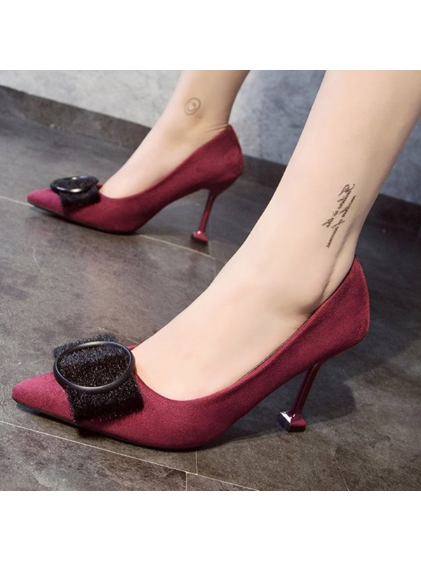 Slip-On Stiletto Heel Pointed Toe Women's Pumps