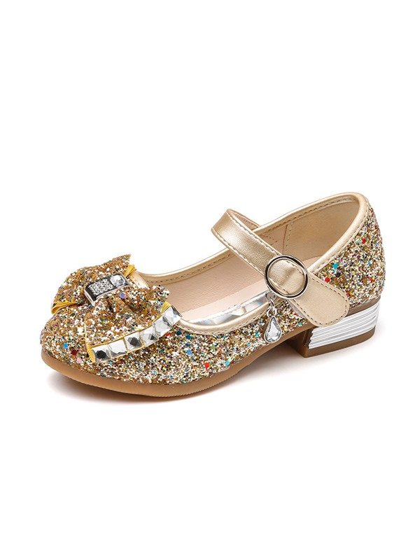 Sequin Round Toe Kids' Shoes