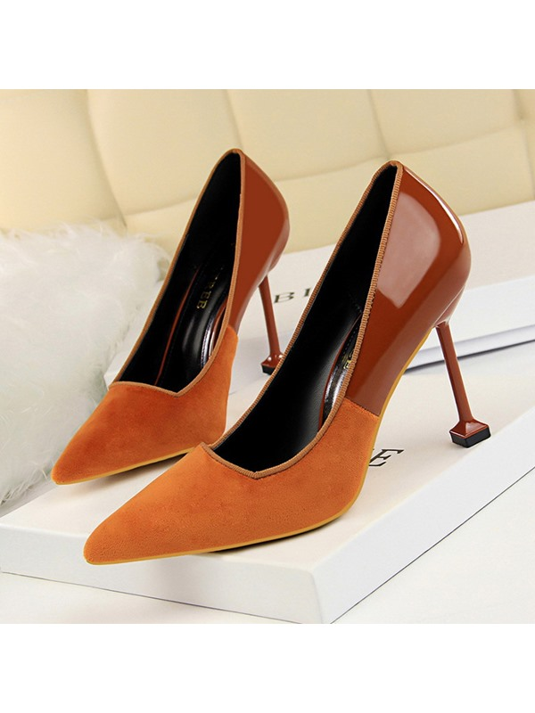 Stiletto Heel Pointed Toe Slip-On Women's Pumps