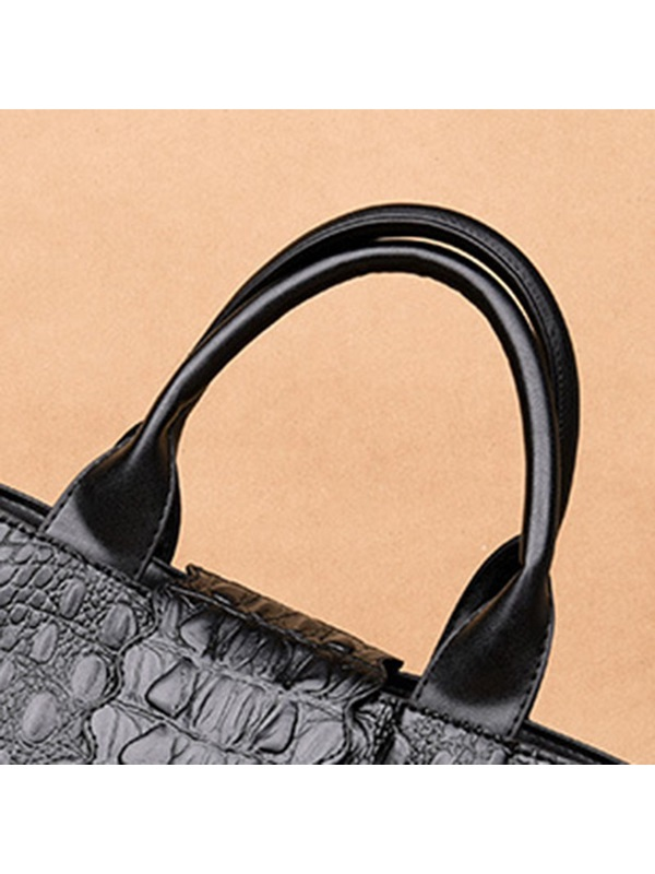 Thread Alligator Barrel-Shaped Tote Bags