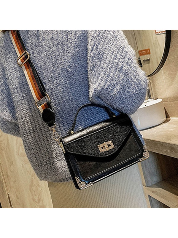 Modern Style Thread PU Flap Tote Bags