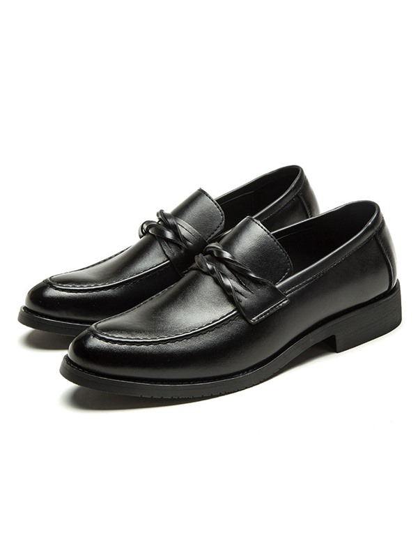Plain Round Toe Men's Dress Shoes