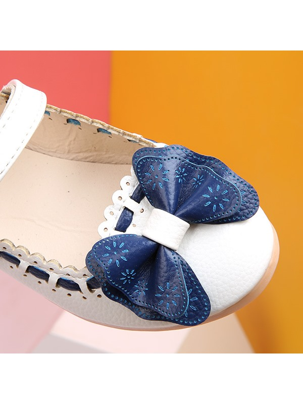 Color Block Round Toe Kids' Flats