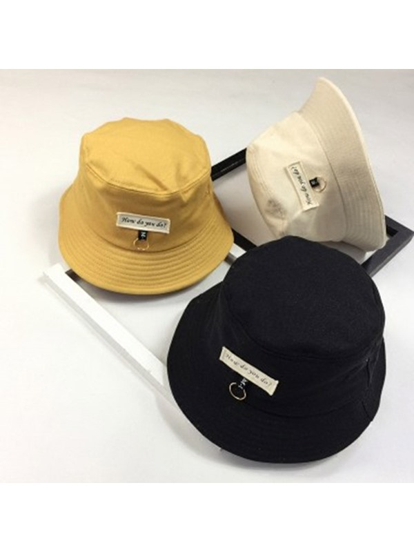 Iron Decorated Patch Embroidered Bucket Hat