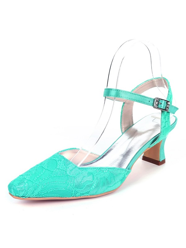 Lace  Ankle Strap Wedding Shoes