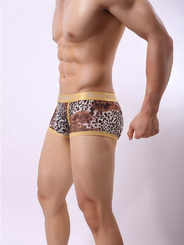 Leopard Print Low-Waist Men's Underwear