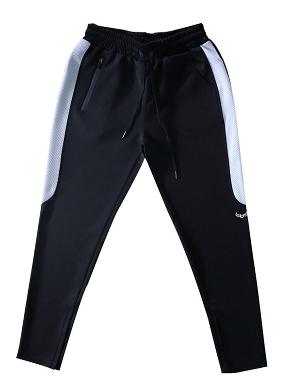 Lace-Up Thin Side Stripe Sports Men's Casual Pants