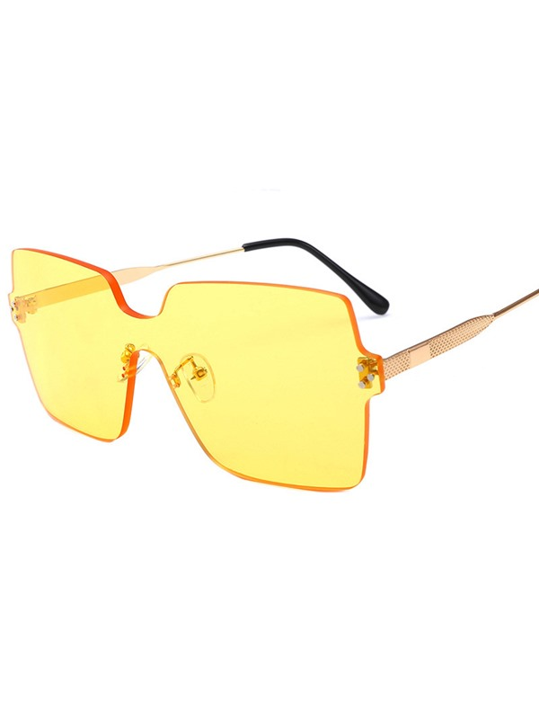 Square Fashion Poly Carbonate Sunglasses