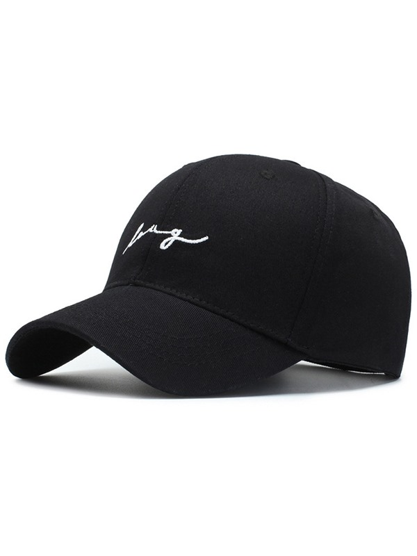Concise Letter Embroidery Couple's Baseball Cap