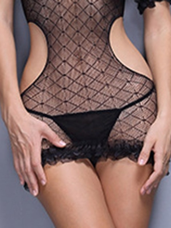 See-Through Short Sleeve Sexy Costume