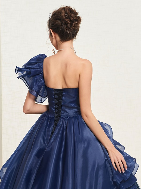 Ball Gown Floor-Length Appliques Short Sleeves Quinceanera Dress 2019