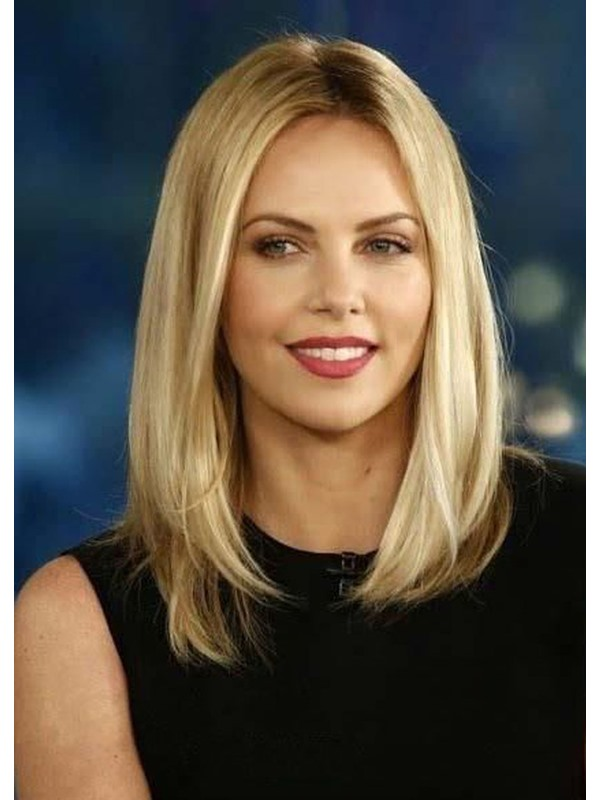 Sexy Lob Top Quality Natural Straight Medium Synthetic Hair Capless Wigs 16 Inches
