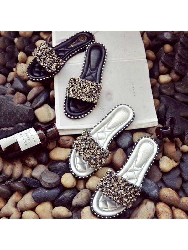 Rhinestone Sequin Women's Slippers