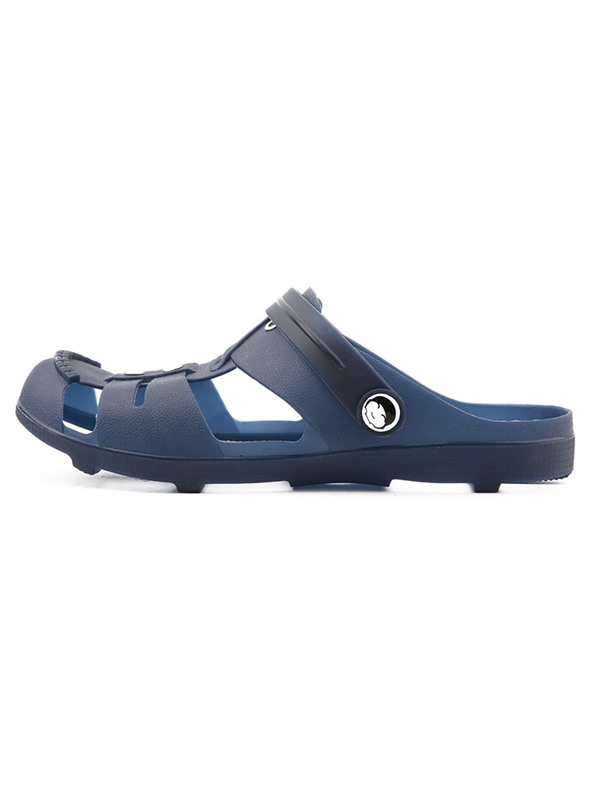 Plain Slip-On Round Toe Men's Sandals