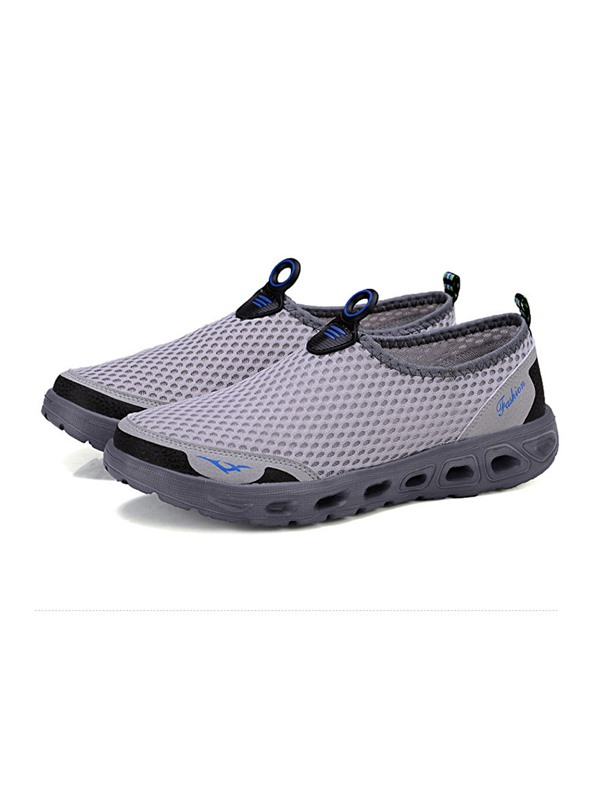 Mesh Color Block Round Toe Men's Breathable Sneakers
