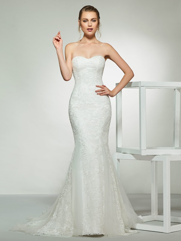 Sweetheart Lace Mermaid Wedding Dress 2019