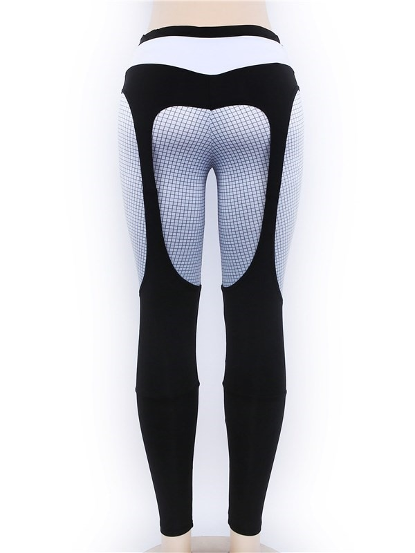 Breathable Color Block Sports Pants for Women