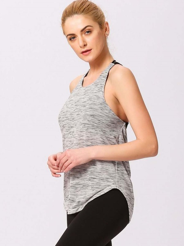 Fake Two Pieces Women's Sports Vest