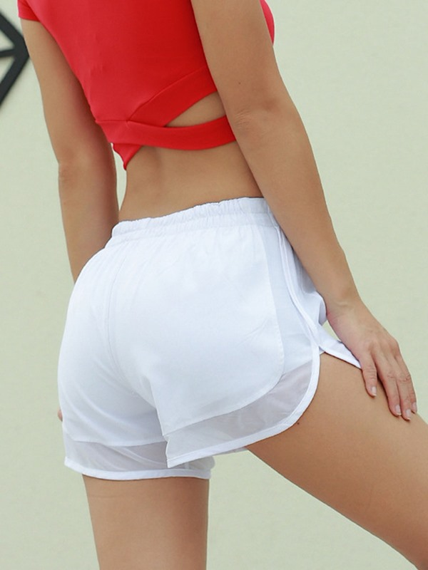 Solid Quick Dry Women's Sports Short