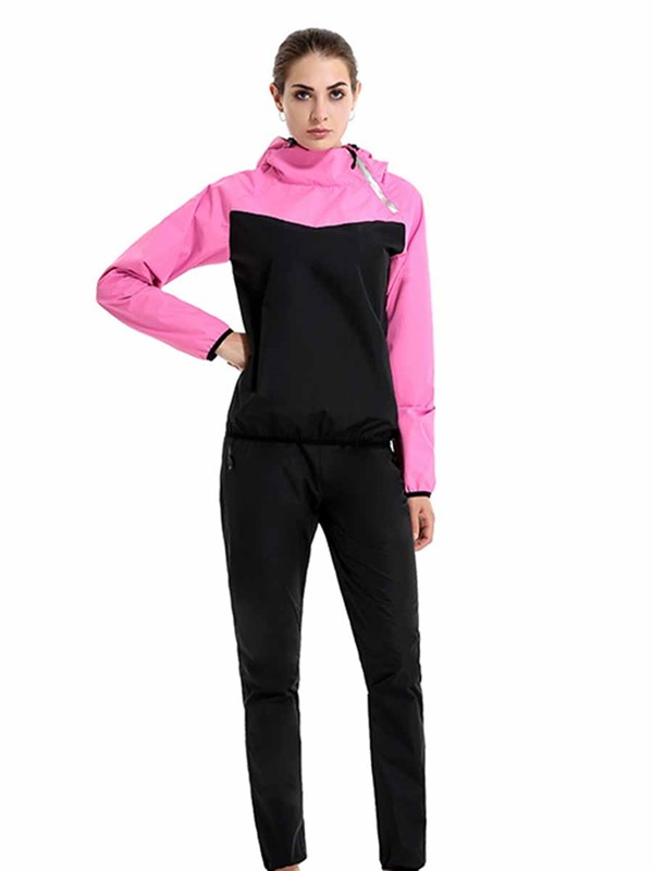 Long Sleeves With Hood Sweat Sports Set for Women