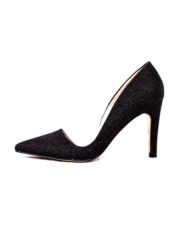 Plain Sequin Pointed Toe Slip-On Women's Pumps