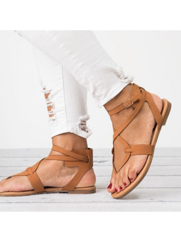 Thong Strappy Buckle Women's Sandals