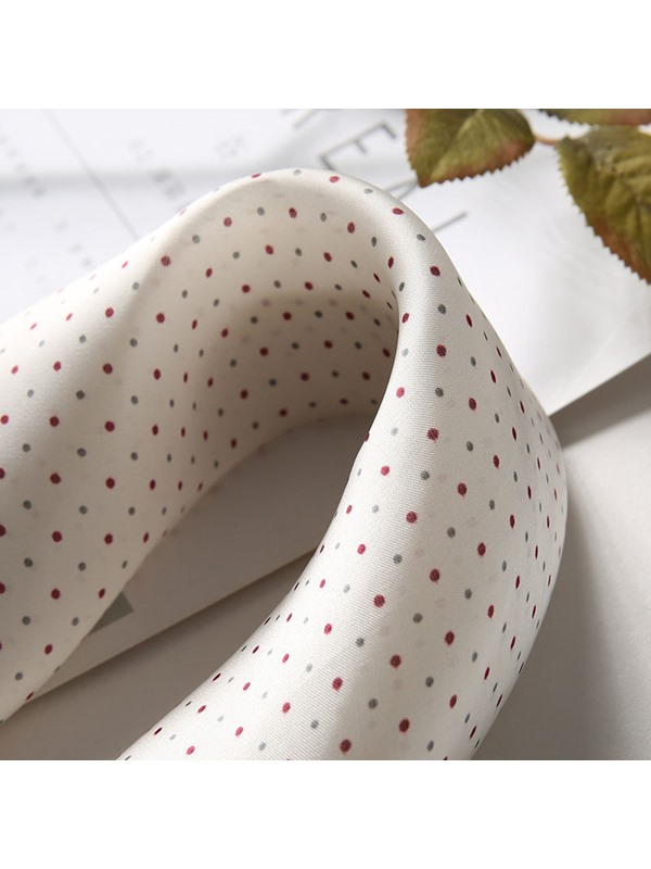 Concise Charmeuse Loop Polka Dots Scarvf
