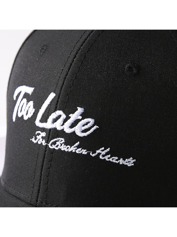 Adjustable Letter Embroidery Cotton Baseball Cap