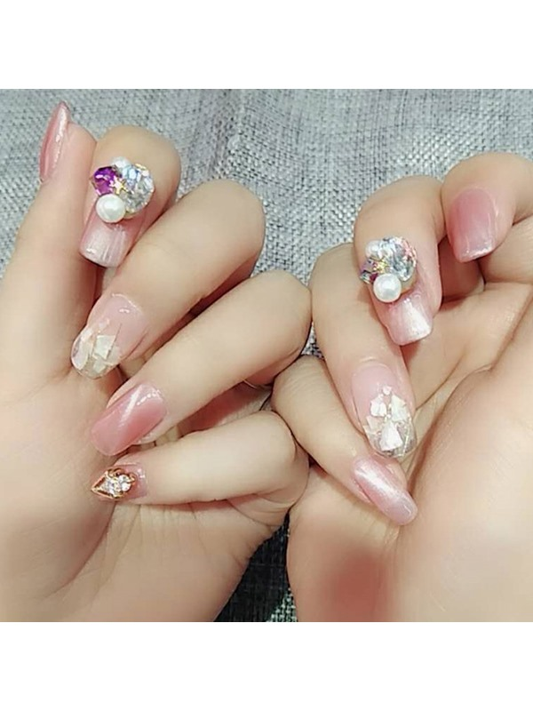 Colored DIY Shell Nail Art Mirror Powder Glitters Set