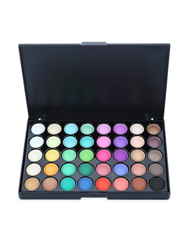40 Colors Gliltter Eyeshadow Palette with Eyeshadow Brush