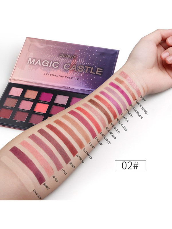 18 Color Magnificent Glitter Glow Makeup Eye Shadow