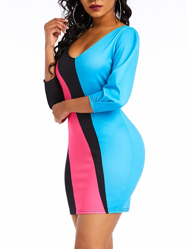 Above Knee  Sexy Fall Women's Bodycon Dress