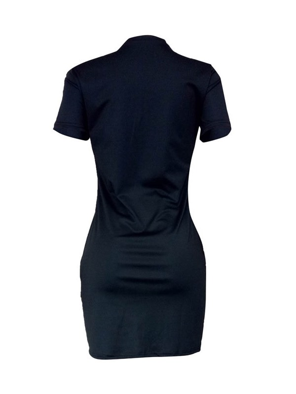 Round Neck Above Knee Polyester Sequins Women's Bodycon Dress