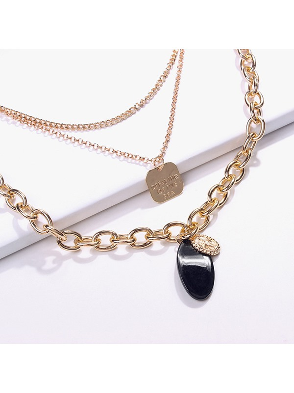 Chic Multi-Layer Coin Pendant Necklace