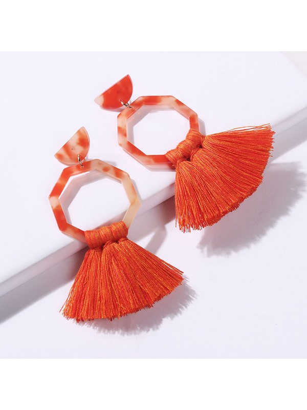 Tassel Bohemian Resin Party Earrings