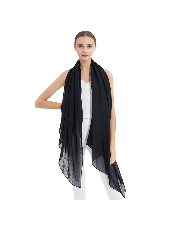 Solid Color Breathable Chiffon Spring Summer Scarf