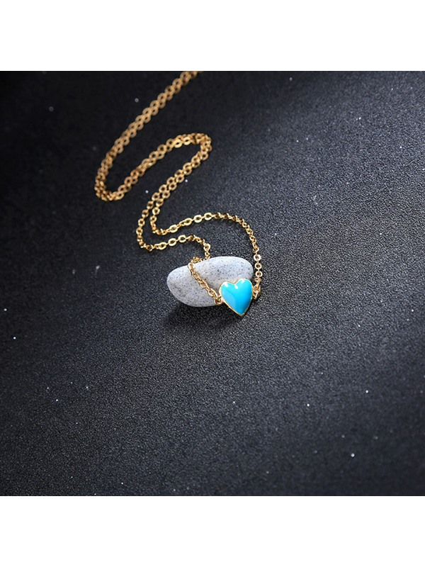 Heart-Shaped Korean Pendant Necklace Female Necklaces