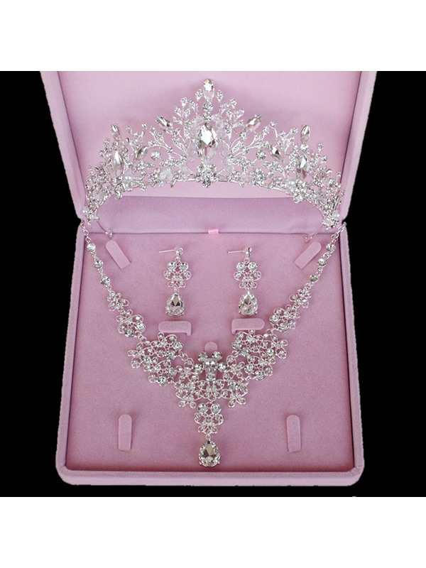 Tiara Korean Diamante Jewelry Sets (Wedding)