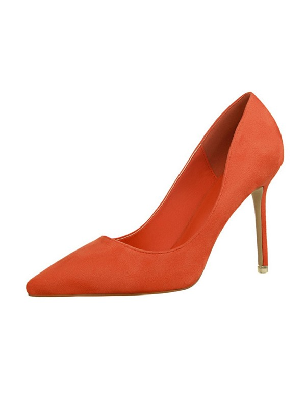 PU Stiletto Heel Pointed Toe Slip-On Women's Pumps