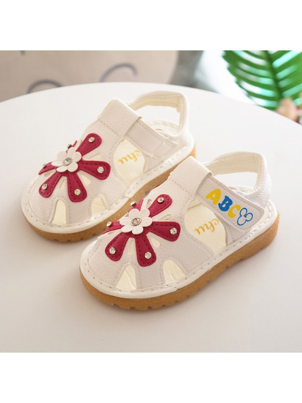 Floral Round Toe Kids' Sandals