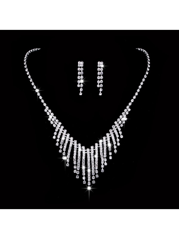 Necklace Diamante Polka Dots Jewelry Sets (Wedding)